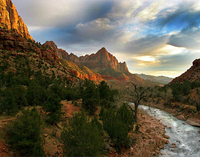 Virgin River Sunset Art Print