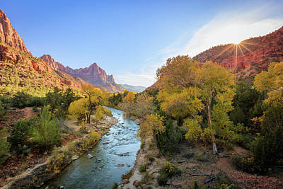 Photograph - Virgin River Sunset by Johnny Adolphson