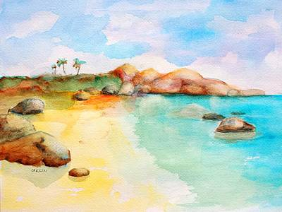 Painting - Virgin Rocks by Carlin Blahnik CarlinArtWatercolor