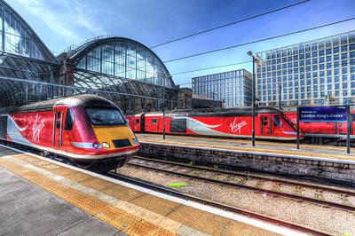 Photograph - Virgin Trains Kings Cross Station by David Pyatt