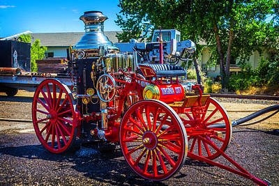Virgina Photograph - Virgina City Fire Wagon by Garry Gay