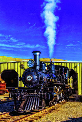 Virgina Photograph - Virgina Truckee Black Steam Train 25 by Garry Gay