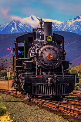 Virgina Photograph - Virgina Truckee Locomotive by Garry Gay