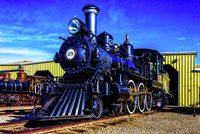 Virgina Photograph - Virgina Truckee Steam Locomotive 25 by Garry Gay