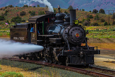 Virgina Photograph - Virgina Truckee Steam Train by Garry Gay