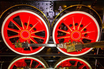 Thirteen Photograph - Virginia And Truckee Red Train Wheels by Garry Gay