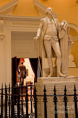 Photograph - Virginia Capitol - Washington And Lee Statues by Jemmy Archer