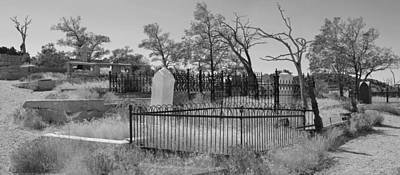 Photograph - Virginia City Cemetery Scene Bw by Brent Dolliver