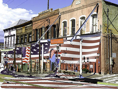 Painting - Historic Virginia City Facades by Peter Potter