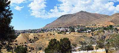 Photograph - Virginia City From Cemetery  by Brent Dolliver