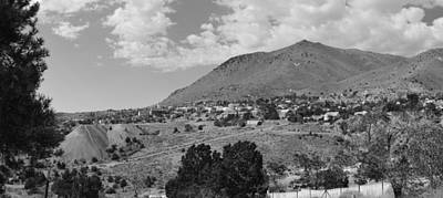 Photograph - Virginia City From Cemetery Bw by Brent Dolliver