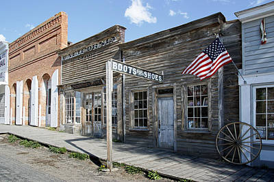 Old Town Digital Art - Virginia City Ghost Town - Montana by Daniel Hagerman