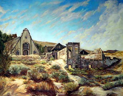 Painting - Virginia City Nevada II by Evelyne Boynton Grierson