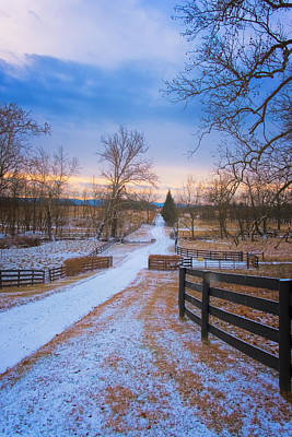 Photograph - Virginia Country Lane by Tom Singleton