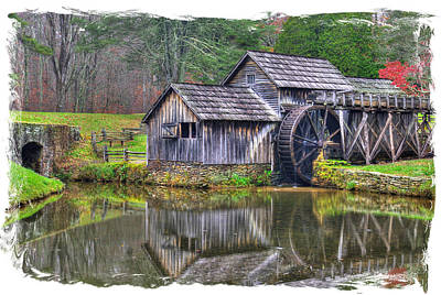 Photograph - Virginia Country Roads - Mabry Mill, Autumn - Blue Ridge Parkway, Floyd County by Michael Mazaika