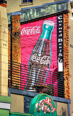 Photograph - Virginia Country Roads - Vintage Coca Cola Wall Mural - South Jefferson St., Roanoke, Va by Michael Mazaika