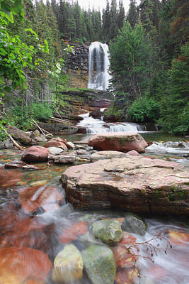 Photograph - Virginia Falls - Glacier N.p. by Shari Jardina
