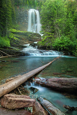Photograph - Virginia Falls Of Glacier National Park by Expressive Landscapes Nature Photography