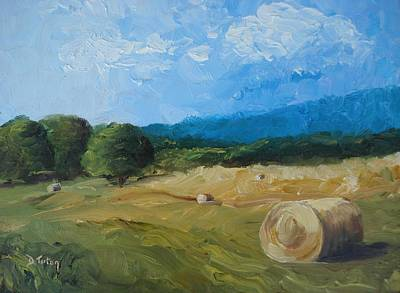 Virginia Hay Bales II Art Print by Donna Tuten