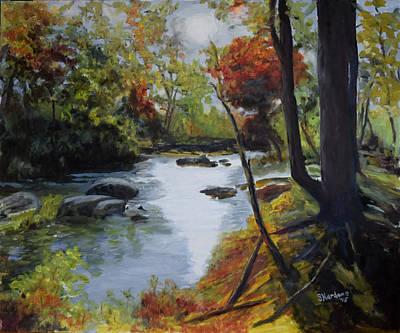 Virginia Lovely Stream Art Print by Sandra Nardone