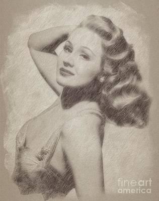 Wizard Drawing - Virginia Mayo, Actress by Frank Falcon