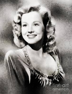 Mayo Painting - Virginia Mayo, Vintage Actress by John Springfield
