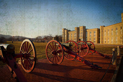 Photograph - Virginia Military Institute Cannons by Melinda Fawver