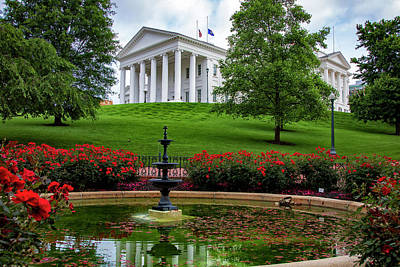 Wall Art - Photograph - Virginia State Capital - Richmond by Cliff Middlebrook