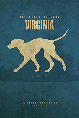 Virginia Map Mixed Media - Virginia State Facts Minimalist Movie Poster Art by Design Turnpike