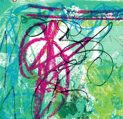 Fushia Mixed Media - Virginia Tiny Art #106 by Stacey Brown