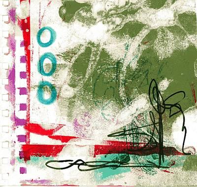 Fushia Mixed Media - Virginia Tiny Art #132 by Stacey Brown