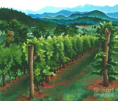 Monticello Painting - Virginia Winery by Ana Corrales