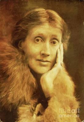 Virginia Woolf, Literary Legend By Mary Bassett Art Print
