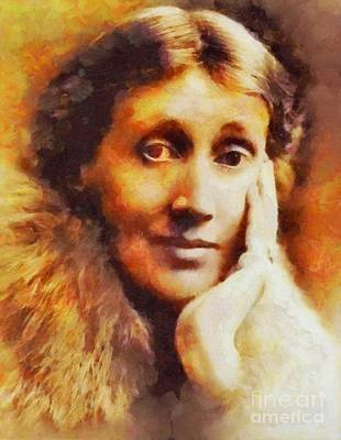 Woolf Painting - Virginia Woolf, Literary Legend by Sarah Kirk
