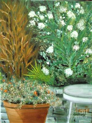 Painting - Virginia's Garden by Laurie Morgan