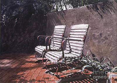 Brick Painting - Virginia's Repose by David Lloyd Glover