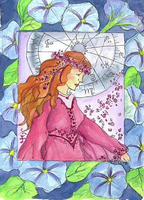 Virgo Drawing - Virgo by Cathie Richardson