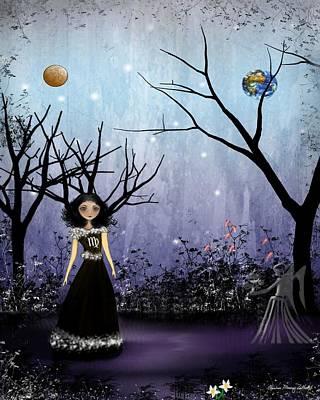 Goth Girl Digital Art - Virgo by Charlene Zatloukal
