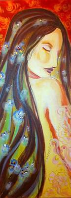Virgo Drawing - Virgo Grace by Yvonne Payne