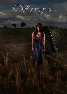 Digital Art - Virgo by Virginia Palomeque