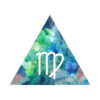 Zodiac Symbols Mixed Media - Virgo Zodiac by Marina Demidova