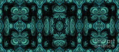 Malachite Digital Art - Viridian Codex by John Edwards