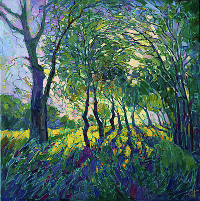 Painting - Viridian Rays by Erin Hanson