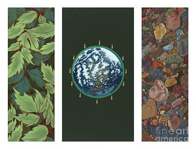 Viriditas Triptych Art Print