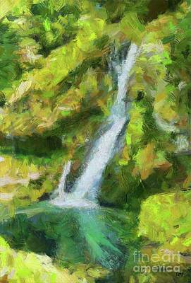 Painting - Virje Waterfall by Dragica Micki Fortuna