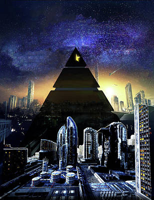 Digital Art - Virtual Law City by J Carrell Jones
