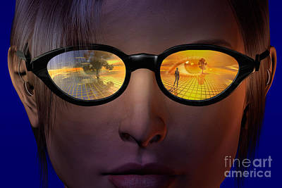 Virtual Reality Art Print by Carol and Mike Werner