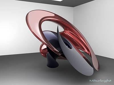 Virtual Sculpture 2 Art Print by Michael Burleigh