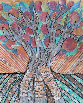 Virtue Tree Original by Carol Cole