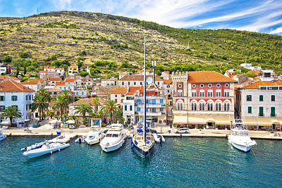 Photograph - Vis Island Yachting Waterfront View by Brch Photography